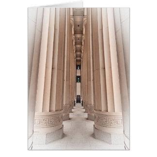 Arkitektonisk bana av pelare hälsningskort