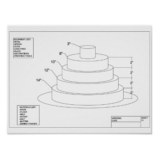 Arkitektonisk bröllopstårta posters