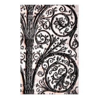 Arkitektonisk dekorativ Ironwork för barock Brevpapper