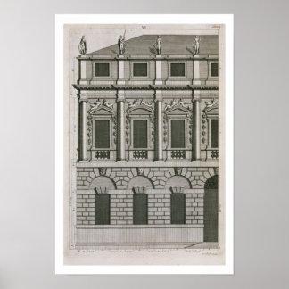 Arkitektonisk design som visar den Palladian propo Poster