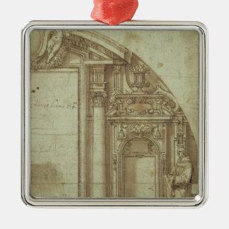 Arkitektonisk studie julgransprydnad metall