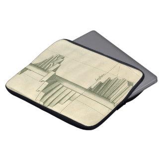 Arkitektonisk trappor för vintage, spiral laptop sleeve