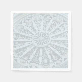 Arkitektoniska grå färg och blått specificerar pappersservett