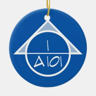 Arkitektoniskt hänvisa till symbolprydnaden julgransprydnad keramik