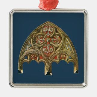 Arkitektoniskt inslag för vintage, dekorativa julgransprydnad metall
