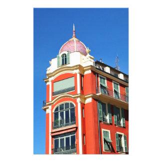 Arkitektur i Nice, frankrike Brevpapper