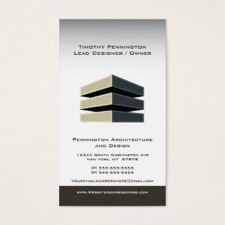 Arkitektur- och byggnaddesignvisitkort visitkort