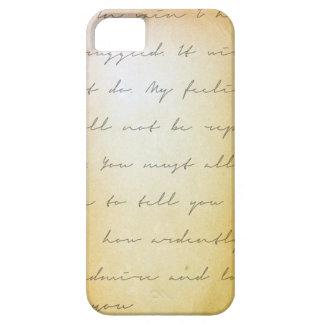 Arkivpride- och fördomhandskrift iPhone 5 Case-Mate fodral
