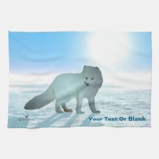 Arktisk räv kökshandduk