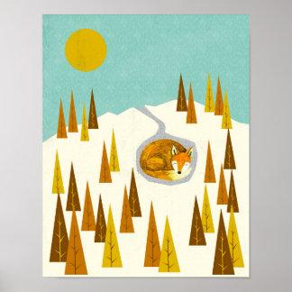 Arktisk räv poster