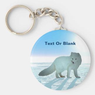 Arktisk räv rund nyckelring