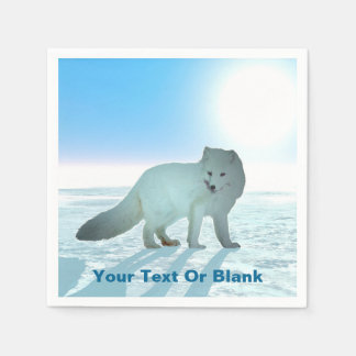Arktisk räv servett