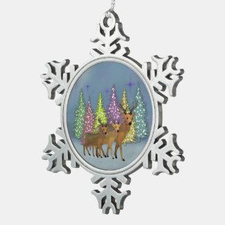 Arktisk renSnowflakeprydnad Julgransdekorationer