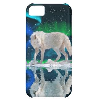 Arktisk varg för vit & nordligt fodral för iPhone 5C fodral