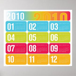 Årlig kalender 2010 poster