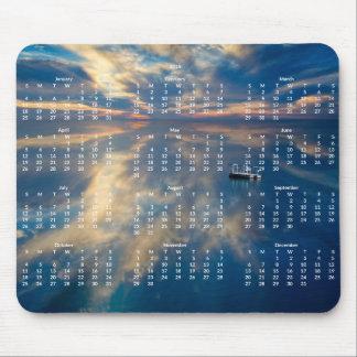 Årlig kalender för strand Mousepad 2015 Musmattor