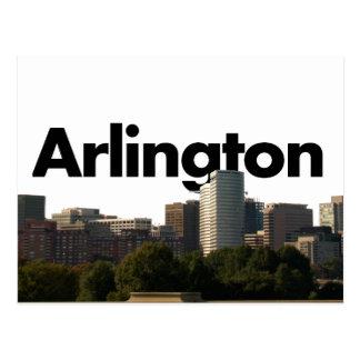Arlington TX horisont med Arlington i himmlen Vykort