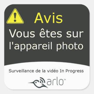 Arlo - fransk översättning fyrkantigt klistermärke