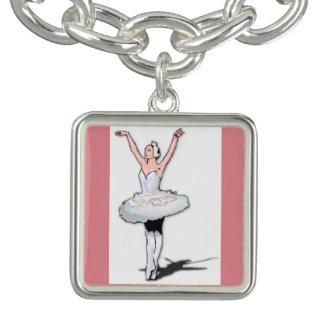 Armband för berlock för dans för balett för