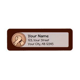 Armbrottningen brons returadress etikett