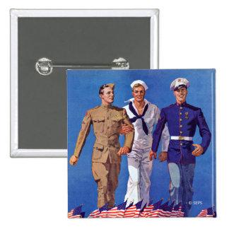 Armé, marin & flottor standard kanpp fyrkantig 5.1 cm