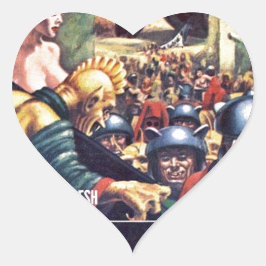 Armé med Funn y hjälmar Hjärtformat Klistermärke
