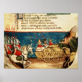 Armén av Charlemagne och transporten Poster