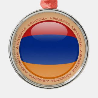 Armenien bubblar flagga julgransprydnad metall