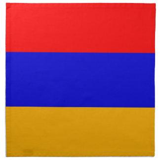Armenien flagga på den MoJo servetten Tygservett