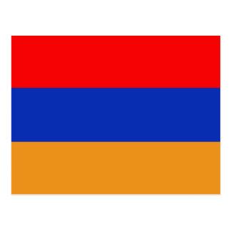 Armenien flagga vykort