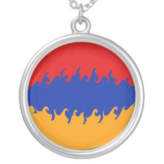 Armenien Gnarly flagga Halsband Med Rund Hängsmycke