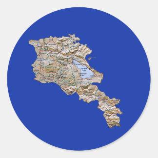 Armenien kartaklistermärke runt klistermärke