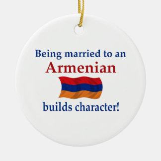 Armenier bygger teckenet julgransprydnad keramik