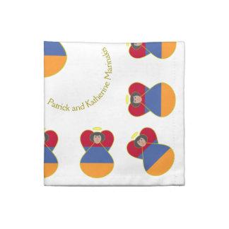 Armeniskt hår för ängelflaggasvart tygservett