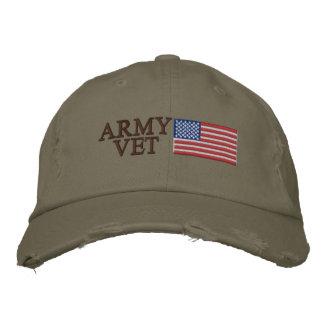 ArméVet med patriotisk militär för amerikanska Kepor