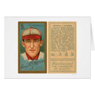 Arnold Hauser kardinalbaseball 1911 Hälsningskort
