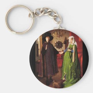 Arnolfini porträtt rund nyckelring