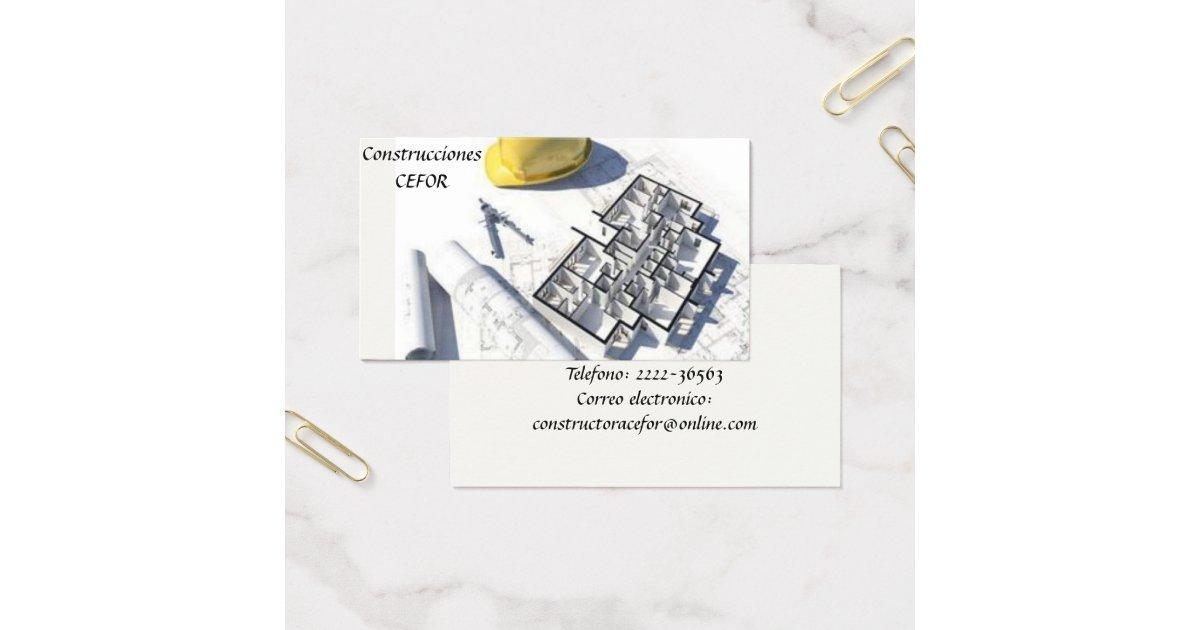 Arquitecto constructor tarjeta de visita visitkort for Arquitecto constructor