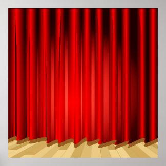 Arrangera gardinen skolar/bakgrunden för poster