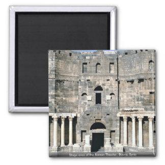 Arrangera område av den romerska teatern, Bosra,