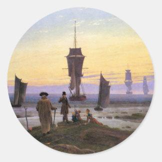 Arrangerar av liv av Caspar David Friedrich Runt Klistermärke