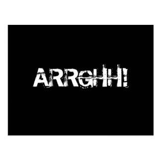 ARRGHH!  Piratrop/skri. Svart Vykort