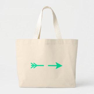 Arrow Cyan Broken The MUSEUM Zazzle Gifts Canvas Bags