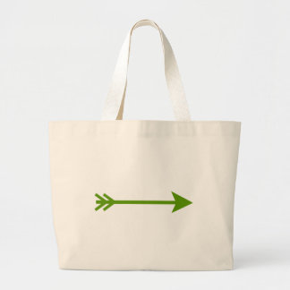Arrow Green Straight The MUSEUM Zazzle Gifts Canvas Bags
