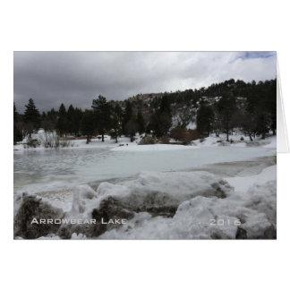 Arrowbear sjö med snölandskapkortet hälsningskort
