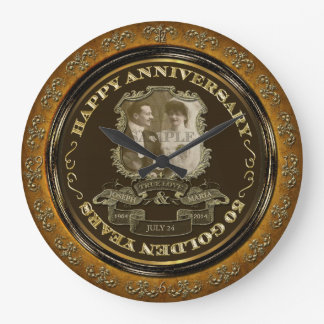 Årsdag för vintage 50th vägg klockor