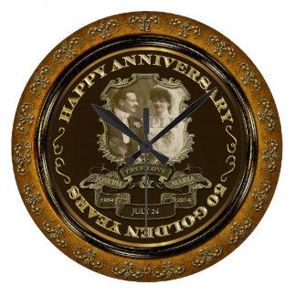 Årsdag ID195 för vintage 50th Stor Klocka