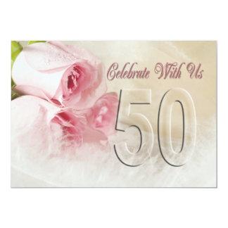 Årsdagpartyinbjudan för 50 år 12,7 x 17,8 cm inbjudningskort