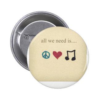 art-cute-inspirational-love-music-Favim.com - 1890 Standard Knapp Rund 5.7 Cm