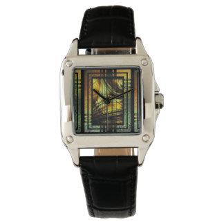 Art déco i grönt och guld armbandsur